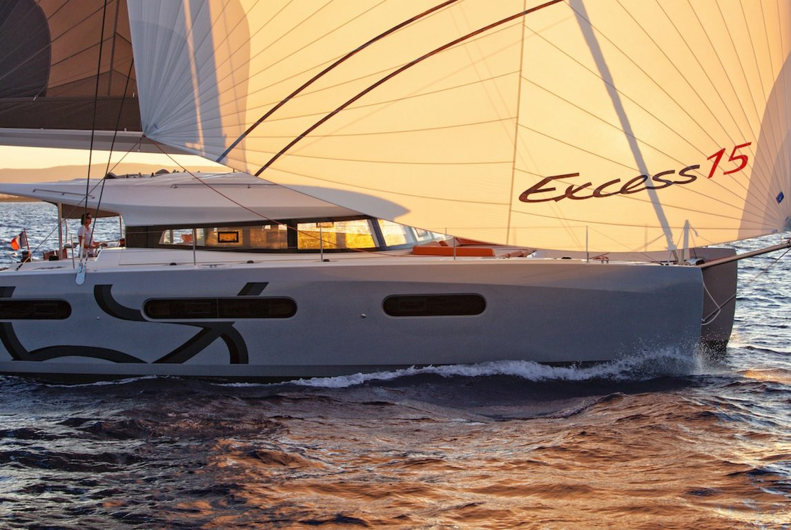 Excess catamaran 15. Excess world and explore perfectly designed catamarans inspired by racing for cruising pleasure. The construction of CNB yachts is based on the incorporation of all the know-how within their boatbuilding yard located in Bordeaux on an outstanding site. From design to launch, the teams work with a constant concern for a job well done. Whether it is a sailing yacht or a motor-yacht, a one-off or a semi-custom, they adopt only seaworthy, durable and functional solutions. Elegance then results from the sum of a multitude of details. Sometimes imperceptible individually, their amalgamation forms a coherent and harmonious whole. They make CNB yacht builders a unique provenance.